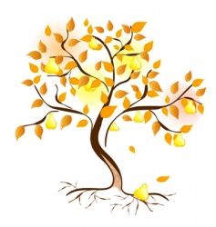 Pear tree vector