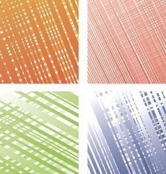Set from four colourful textures vector