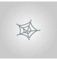 Spiderweb icon web symbol vector