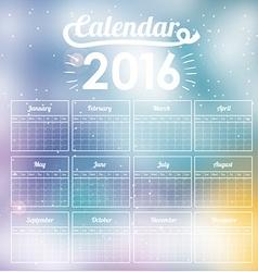 calendar year 2016 vector image