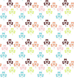 Seamless colorful shamrock pattern shamrock vector