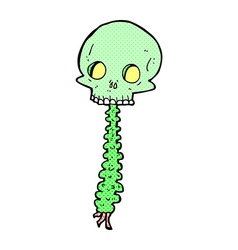 Spooky comic cartoon sull and spine vector
