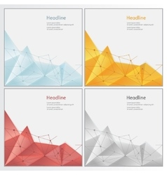 Geometric rumpled triangular low poly style vector