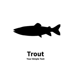 Silhouette of trout vector