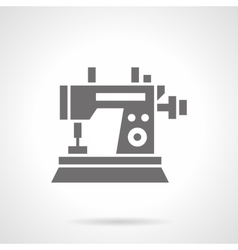 Sewing machine black glyph symbol icon vector