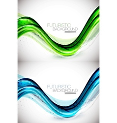 Futuristic wave background vector