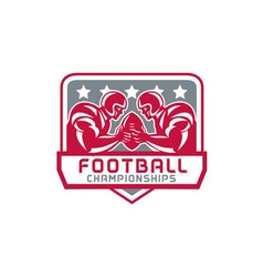 American football championship crest retro vector