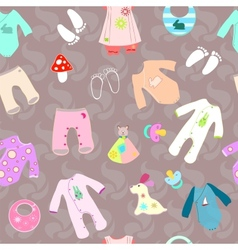 Baby shower birth seamless background vector image