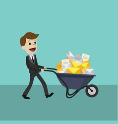 businessman or manager receives many emails vector image vector image