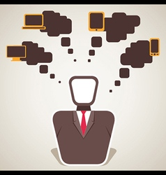 Businessmen think electronic item vector