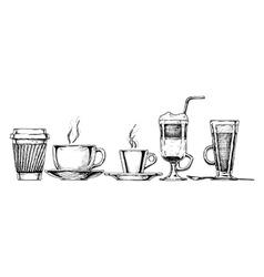 coffee set vector image