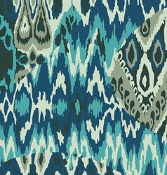 Colored ethnic print pattern abstract background vector image vector image
