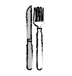 Cutlery set isolated icon vector