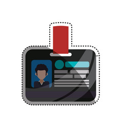 employee id card vector image