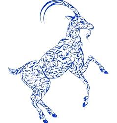 Floral goat vector