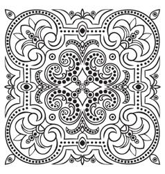 Hand drawing tile vintage black line pattern vector image vector image