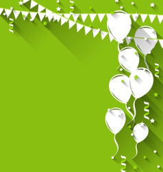 happy birthday background with balloons and vector image