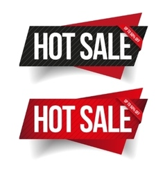 Hot Sale banner ribbon set vector image