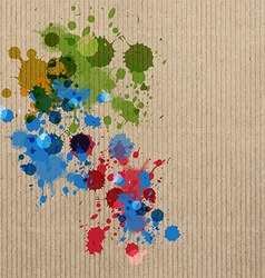 ink splash on cardboard vector image vector image