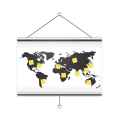 Projector screen map vector image vector image