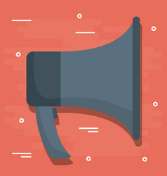 public megaphone design vector image vector image