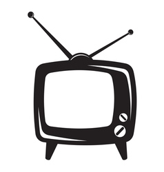 Retro tv icon vector image vector image