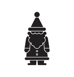 Santa black silhouette vector