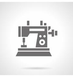 Sewing machine black glyph symbol icon vector image vector image
