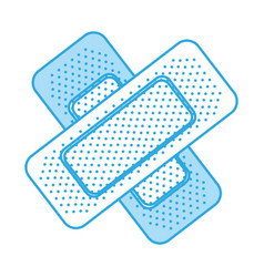 Shadow bandage plaster cartoon vector