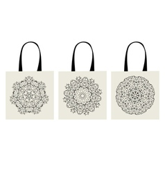 shopping bag arabesque ornaments vector image vector image