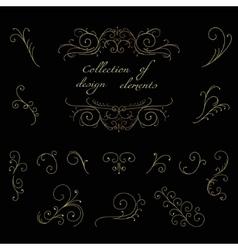 Swirl decorative elements vector image vector image