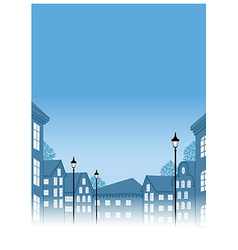 Townscape View vector image vector image