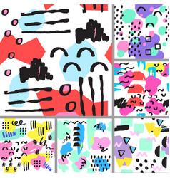universal memphis seamless pattern endless vector image vector image