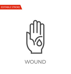 wound icon vector image