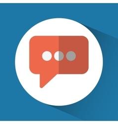 Bubble of social media theme vector image