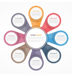 Circle Diagram with Eight Elements vector image