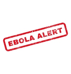 Ebola alert text rubber stamp vector
