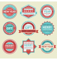 Set stickers for christmas cards vector