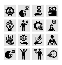 Business success icons vector