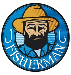 Fisherman sign vector
