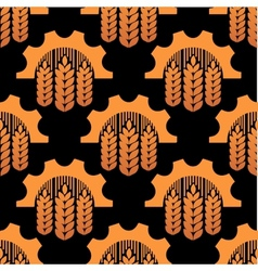Seamless pattern of ears and gears vector