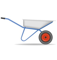 Cartoon wheelbarrow cart for dirt vector