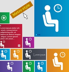 Waiting icon sign buttons modern interface website vector