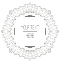 Elegant filigree frame with space for text vector