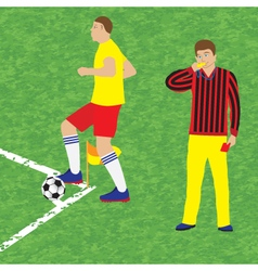 Football player and referee vector