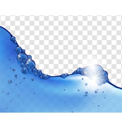 Water wave background vector