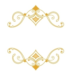 Gold a retro a frame on a white background vector