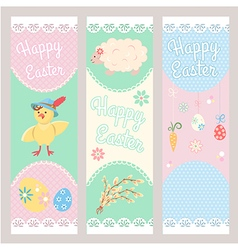 Banner templates happy easter vector