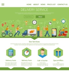 Delivery service and courier page vector
