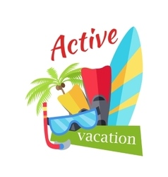 Summer active vacation concept vector